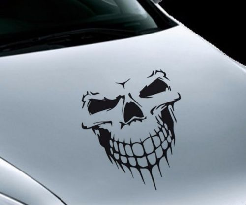 Skull Totenkopf Motorhaube Aufkleber Auto Die Cut Fun Decal Sticker 59 Cm