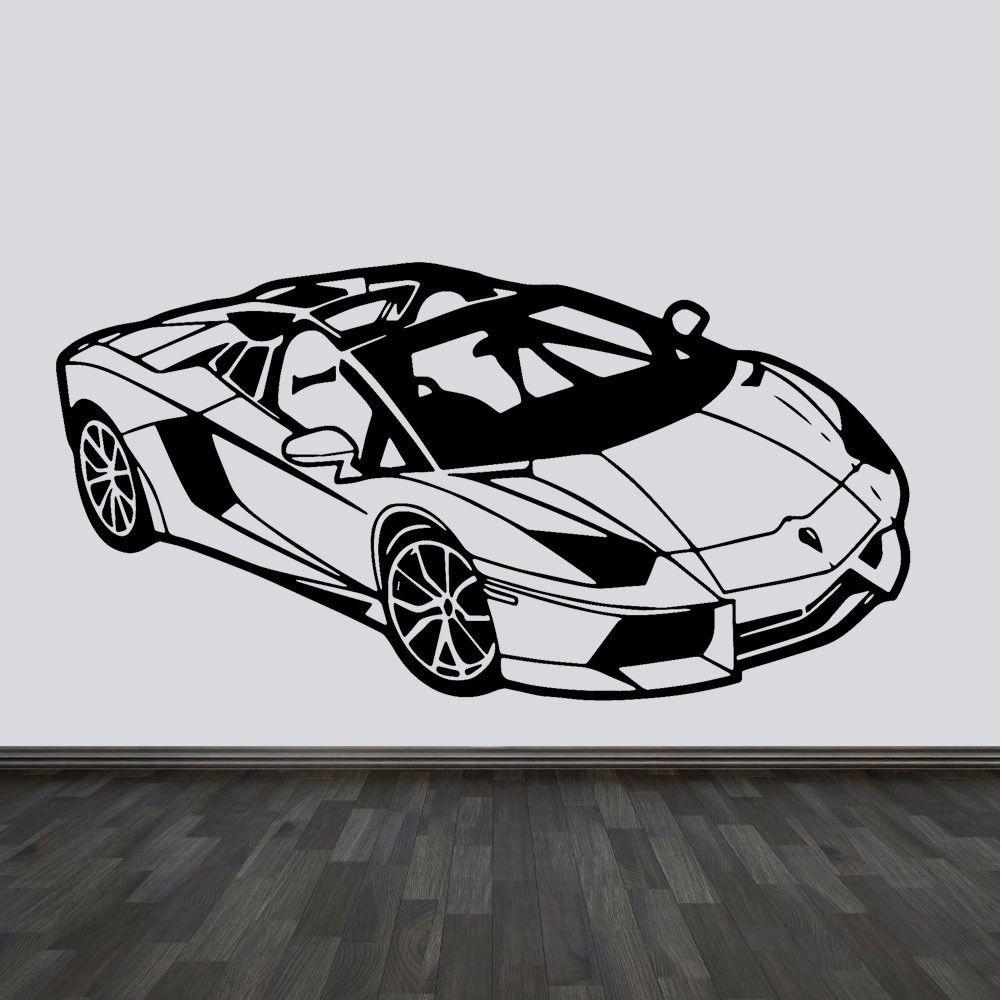 Stickerkiste Sportcar Car Auto Wandtattoo Wallpaper Wand Schmuck 42 X 90 Cm