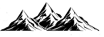 Aufkleber Berge Mountain Everest JDM Autoaufkleber Sticker Decal 17 x 5  cm